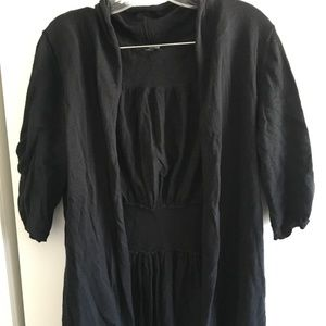 Cute Black Sweater Size XL 3/4 Sleeves